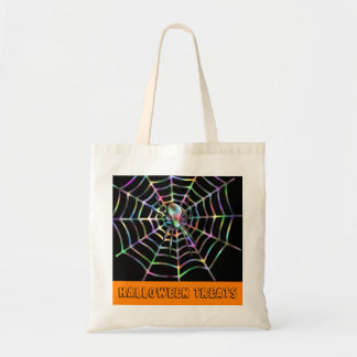 Spider and Web Halloween Treats Bag