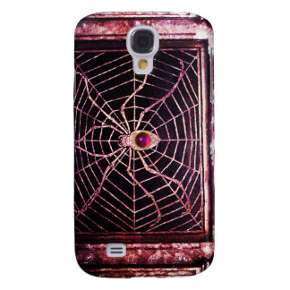 SPIDER AND WEB Pink Fuchsia Amethyst Black Galaxy S4 Cover