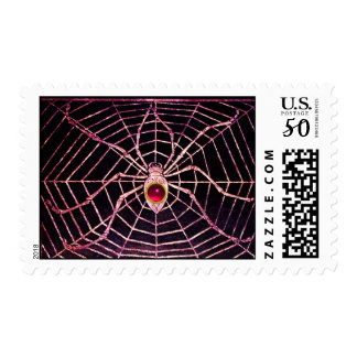 SPIDER AND WEB Pink Fuchsia Ruby Black Postage