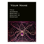 SPIDER AND WEB Purple Amethyst Black Pearl Paper Business Card Templates
