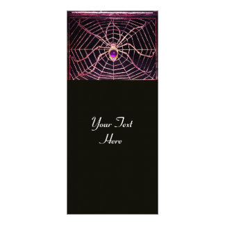 SPIDER AND WEB Purple Amethyst Black Full Color Rack Card
