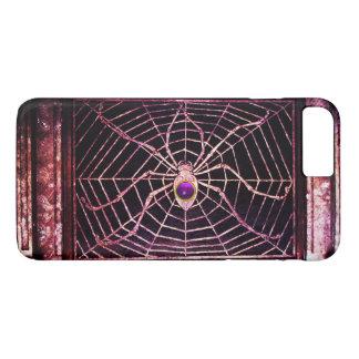 SPIDER AND WEB Purple Gemstone Black iPhone 8 Plus/7 Plus Case