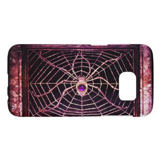 SPIDER AND WEB PURPLE GEMSTONE Black Samsung Galaxy S7 Case