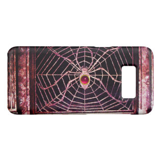 SPIDER AND WEB Red Pink Ruby Black Case-Mate Samsung Galaxy S8 Case
