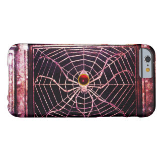 SPIDER AND WEB Red Ruby Black Barely There iPhone 6 Case