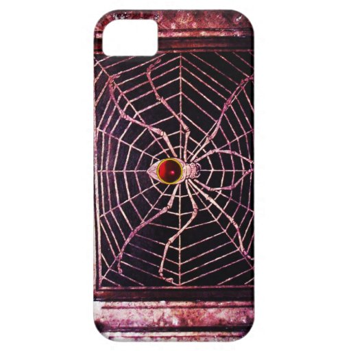 SPIDER AND WEB Red Ruby Black iPhone 5 Case