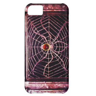 SPIDER AND WEB Red Ruby Black iPhone 5C Case