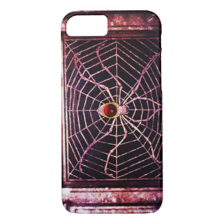 SPIDER AND WEB Red Ruby Black iPhone 8/7 Case