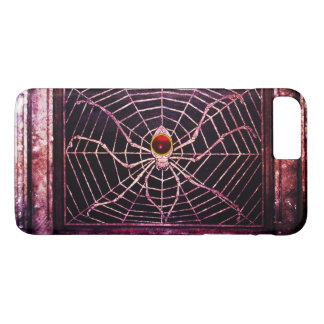 SPIDER AND WEB Red Ruby Black iPhone 8 Plus/7 Plus Case