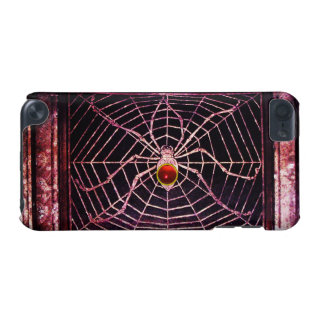SPIDER AND WEB Red Ruby Black iPod Touch (5th Generation) Case