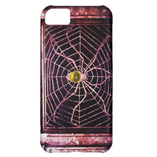 SPIDER AND WEB Yellow Topaz Black Case For iPhone 5C