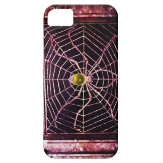 SPIDER AND WEB Yellow Topaz Black iPhone SE/5/5s Case