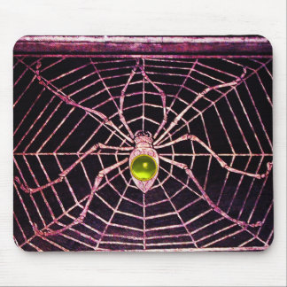 SPIDER AND WEB Yellow Topaz Black Mouse Pad