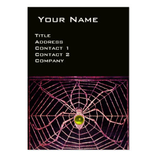 SPIDER AND WEB Yellow Topaz Black Pearl Paper Large Business Cards (Pack Of 100)