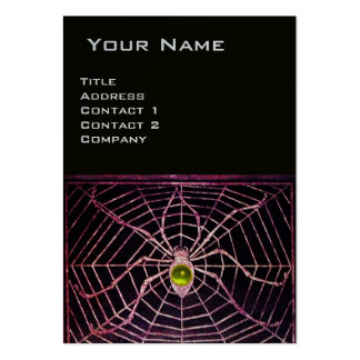SPIDER AND WEB Yellow Topaz Black Platinum Large Business Cards (Pack Of 100)
