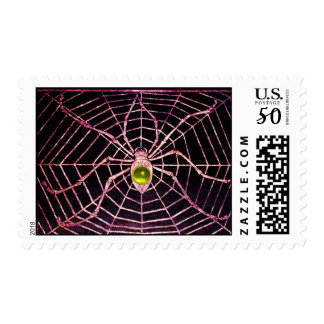 SPIDER AND WEB Yellow Topaz Black Postage