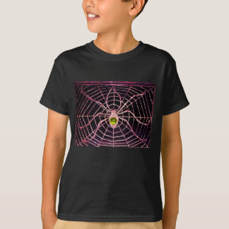 SPIDER AND WEB Yellow Topaz Black T-Shirt