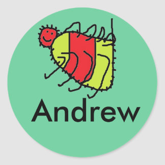 spider, Andrew personalized stickers