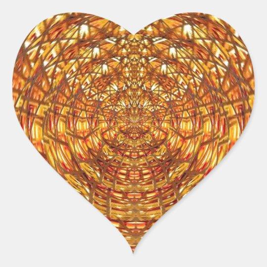 Spider Basket Weave : Attracts n retains energies Heart Sticker