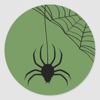 Spider Bite Classic Round Sticker