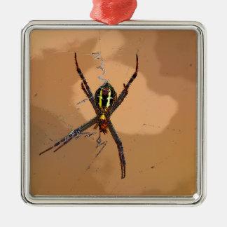 SPIDER BLACK AND YELLOW QUEENSLAND AUSTRALIA METAL ORNAMENT