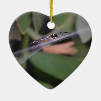 SPIDER BLACK & YELLOW SPINNING WEB AUSTRALIA CERAMIC ORNAMENT