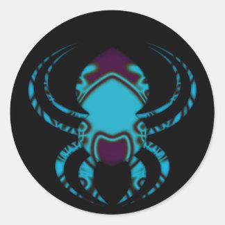 Spider Bleu Tattoo Classic Round Sticker