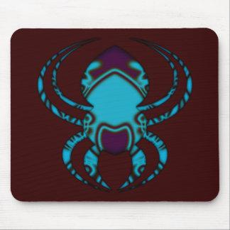 Spider Bleu Tattoo Mouse Pad