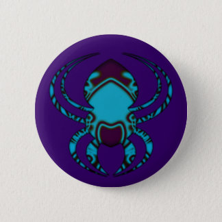 Spider Bleu Tattoo Pinback Button