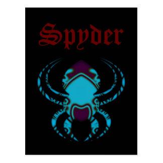 Spider Bleu Tattoo Postcard