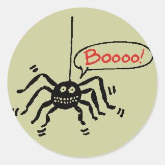 Spider Booooo Round Sticker