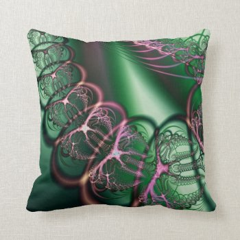 Spider Bubbles Fractal American Mojo Pillow