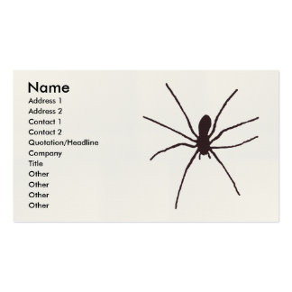 spider business card templates