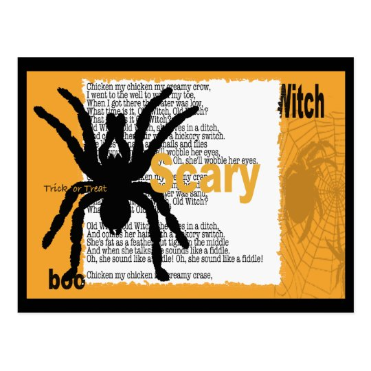 spider-card postcard