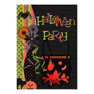 Spider & Cauldron Halloween Invitation