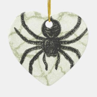 spider ceramic ornament