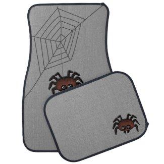 Spider Charcoal Gray Floor Mat