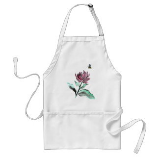 Spider Chrysanthemum and Bee - Fall in the Garden Adult Apron