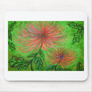 spider chrysanthemums mousemat