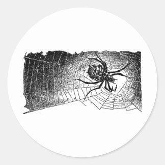spider-clip-art-6 classic round sticker