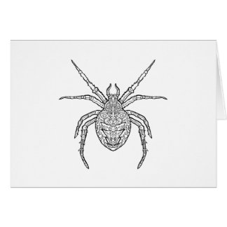 Spider - Complicated Coloring Card