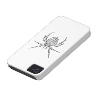 Spider - Complicated Coloring iPhone 4 Case