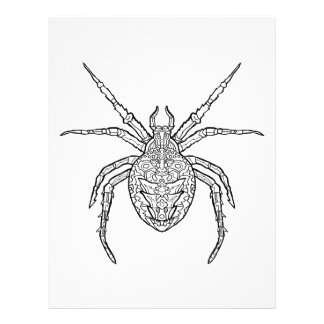 Spider - Complicated Coloring Letterhead