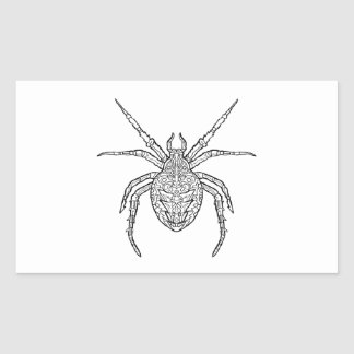 Spider - Complicated Coloring Rectangular Sticker