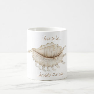 Spider Conch Sea Shell in Coloured Pencil Mug