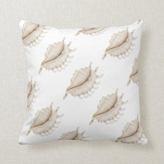 Spider Conch Shell in Pencil Polyester Cushion Throw Pillow