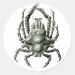 Spider Crab Classic Round Sticker