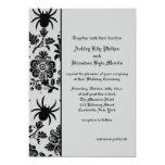 "Spider Damask Wedding Invitation 5"" X 7"" Invitation Card"