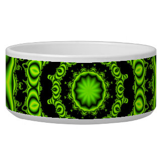 Spider Dance, Abstract Green Gray Web Bowl