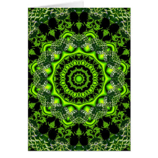 Spider Dance, Abstract Green Irish Card